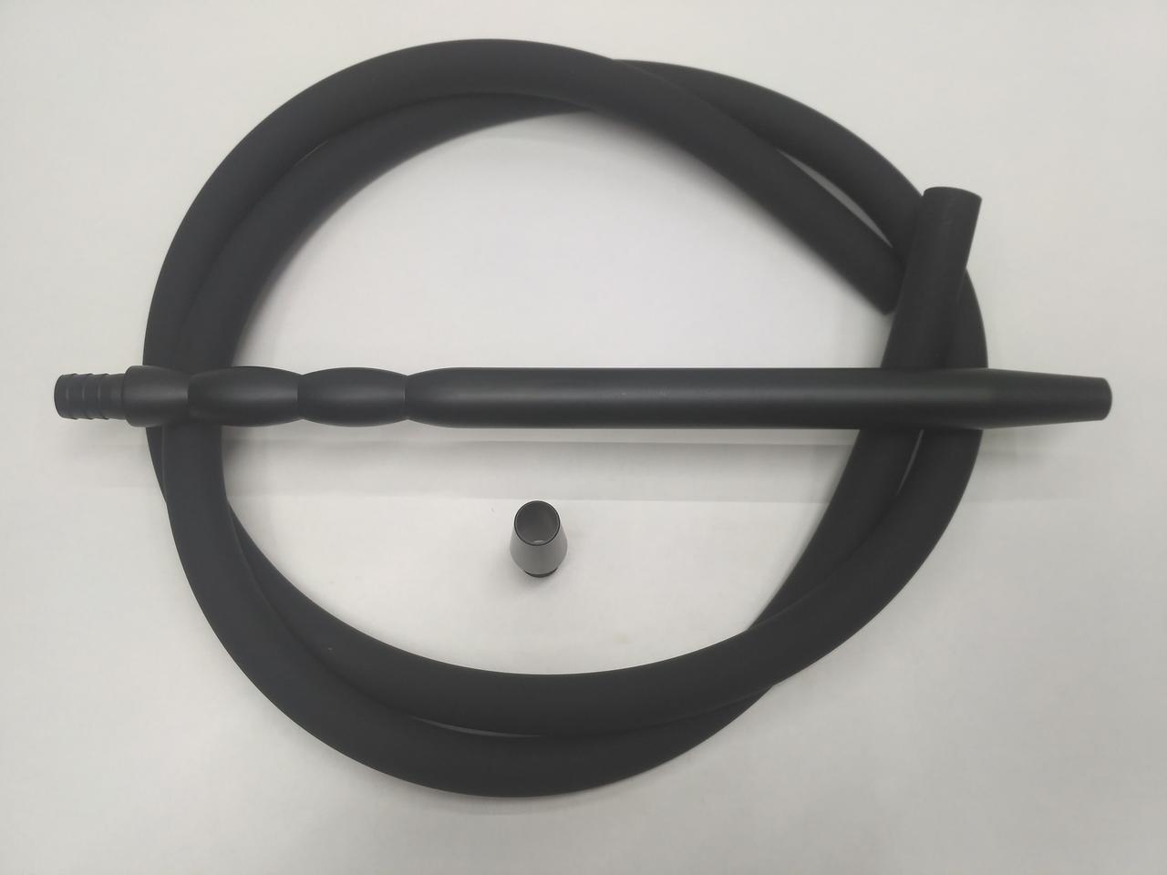 Шланг силиконовый Soft touch (Софт Тач ) с алюминиевыми мундштуками - цвет: Черный