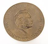 Бронзовый настенный барельеф с портретом Вернера Сименса, бронза, литье, Германия, фото 2