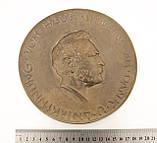 Бронзовый настенный барельеф с портретом Вернера Сименса, бронза, литье, Германия, фото 7