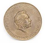 Бронзовый настенный барельеф с портретом Вернера Сименса, бронза, литье, Германия, фото 8