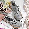 """Мужские кроссовки Adidas Yeezy 350 """"Gray Reflective"""" (в стиле Адидас ), фото 4"""
