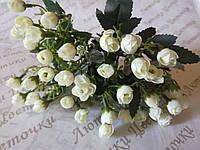 Букет мелкой розы, белый