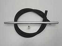 Шланг силиконовый Soft touch (Софт Тач ) с алюминиевыми мундштуками - цвет: Алюминий, фото 1
