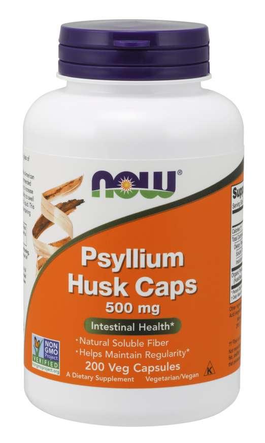 Подорожник, Now Foods, Psyllium Husk, 500 mg, 200 caps