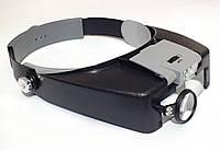 Бинокулярная налобная лупа с подсветкой MG81007-A (улучшенная регулировка), фото 1