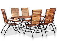 Набор из 7 предметов садовой мебели из массива акации