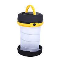 Складний ліхтар SUNROZ Pop-Up Lantern для подорожей та туризму Чорно-Жовтий (SUN4342), фото 1