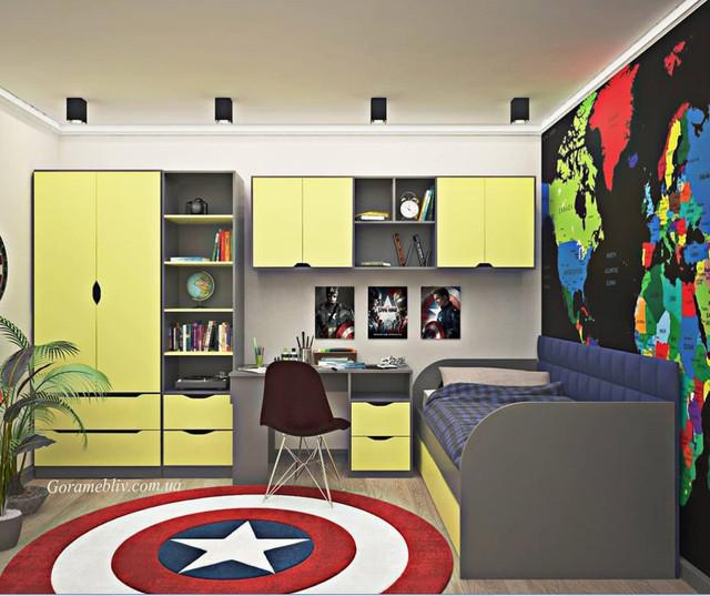 """На фото: мебель в детскую комнату  """"Тетрис"""""""