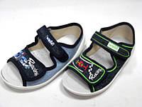 Детские текстильные тапочки,  мокасины, туфли, сандали, слипоны для мальчика тм Waldi, размеры 24, 25.