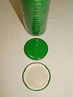 Крышка закаточная твист-офф размер 82 мм зеленая