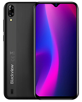 "Blackview A60 6.08"" 1/16 Gb (1280x600)Android 9.0 / MT6580 / 13Мп / 4080мАч + чехол+пленка! midnight black"
