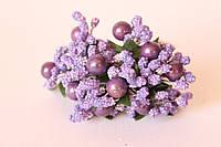 Добавка с перламутровым шариком + блеск 6 шт/уп. фиолетового цвета, фото 1