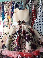 Нарядное платье в цветочек Ретро для девочки на 4-6 лет , фото 1