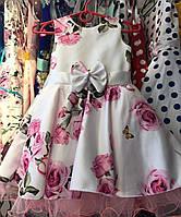 Нарядное платье в розах Ретро для девочки на 4-6 лет , фото 1