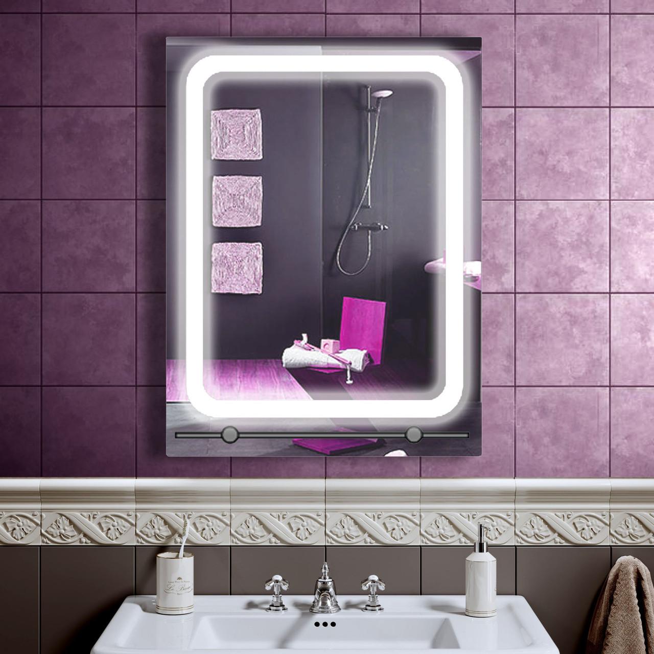 LED дзеркало у ванну зі світлодіодним підсвічуванням DV 7528-2 600х800 мм
