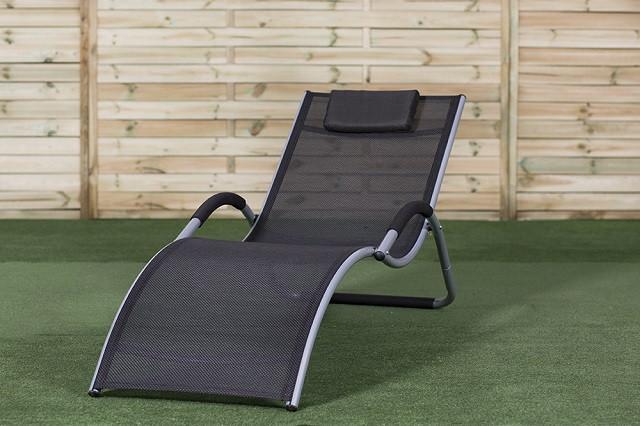 Лежаки для пляжа алюминиевые черные