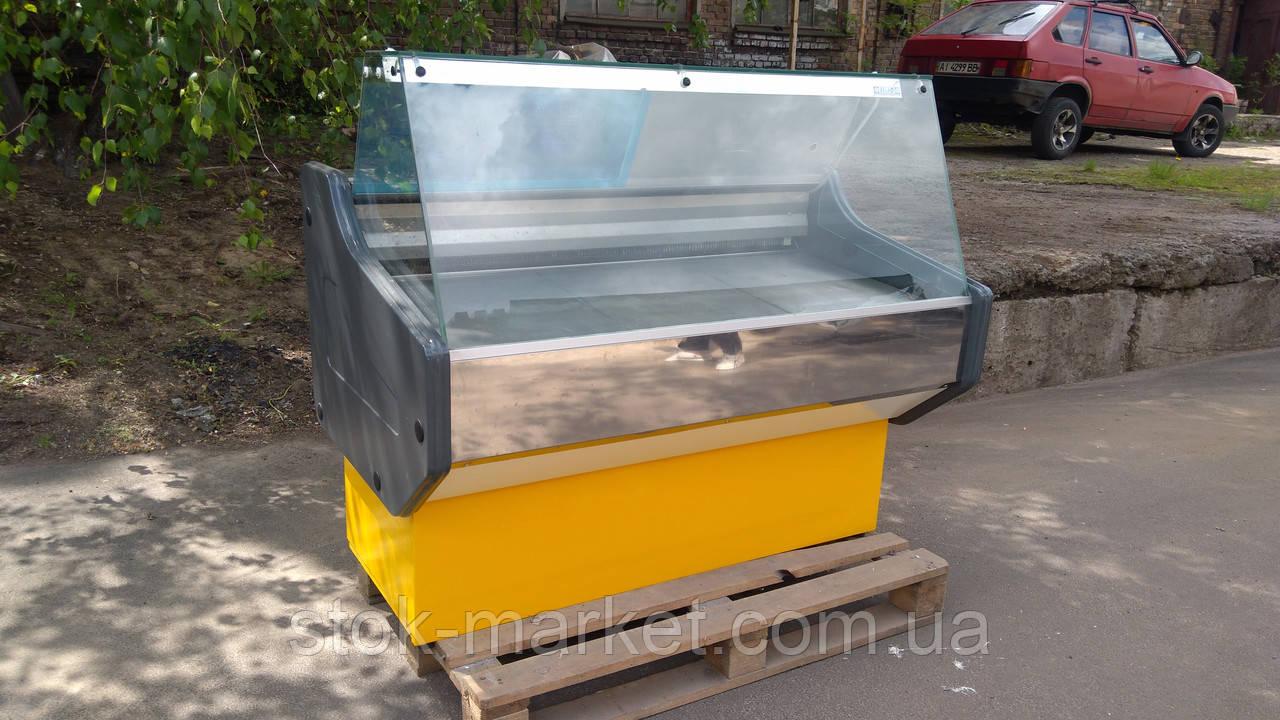 Витрина холодильная  1,30 бу. витрина с прямым стеклом бу.