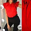 Женская блуза с воротником- бант в моделях, р-р 48-50. ВЕ-17-1-0519, фото 6