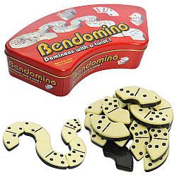 Домино X14312 (12шт) Бендомино, в кор-ке(металл), 27,5-14-6см