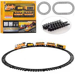 ЖД PYC24 (12шт) локомотив 18см, вагон 4шт, зв,св,на бат-ке, в кор-ке, 56-38-6см