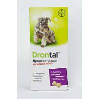 Bayer Drontal plus Дронтал Плюс таблетки с вкусом мяса для собак 6 таб