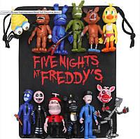 Мешок для игрушек 5 ночей с Фредди - Подарочная Сумка Аниматроники. Фнаф fnaf, фото 1
