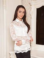 Гипюровая женская блузка (M-3XL в расцветках)