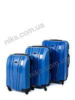 Чемоданы - Комплект чемоданов из 3-х шт пластиковый Back Pack