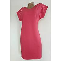 Платье женское летнее трикотажное 46 р. коралловое