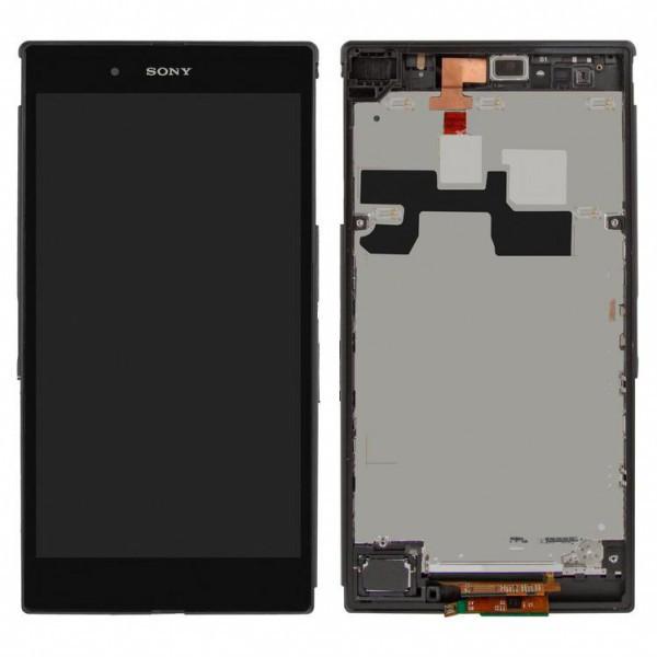 Дисплей (экран) для Sony C6802 XL39h Xperia Z Ultra с сенсором (тачскрином) и рамкой черный