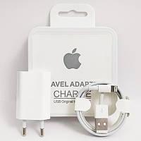Зарядное устройство iPhone Travel Adapter + кабель Lightning, в коробке айфон, зарядка для айфона