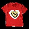 """Футболка для девочки """"Minions heart"""""""