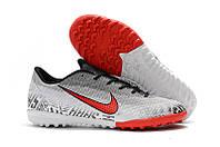 Футбольные сороконожки Nike Mercurial VaporX XII Academy Neymar TF White/Challange Red/Black, фото 1