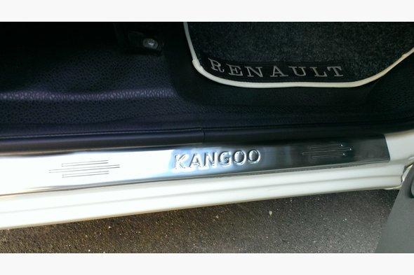 Накладки на пороги Carmos (нерж.) Renault Kangoo 1998-2008 гг.