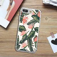 """Защитный чехол-накладка """"Tropic"""" силиконовый для Samsung Galaxy S9 (белый)"""