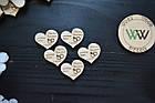 Магниты, свадебные фишки с датой свадьбы, именами, презент гостям, валюта для конкурсов, сердечки, фото 3