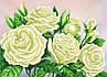 """Схема для вишивання бісером на підрамнику (полотно) """"Прекрасні білі троянди"""", фото 2"""