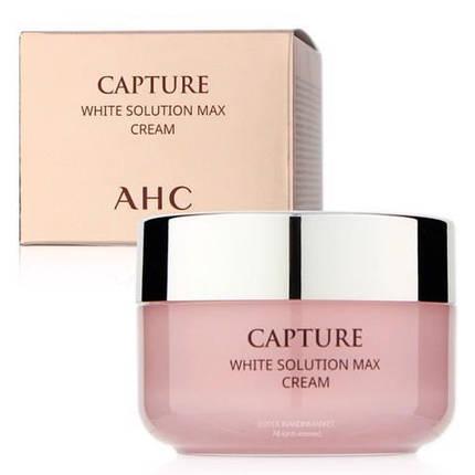 Осветляющий оживляющий крем для лица AHC Capture White Solution Max Whitening Cream 50ml, фото 2