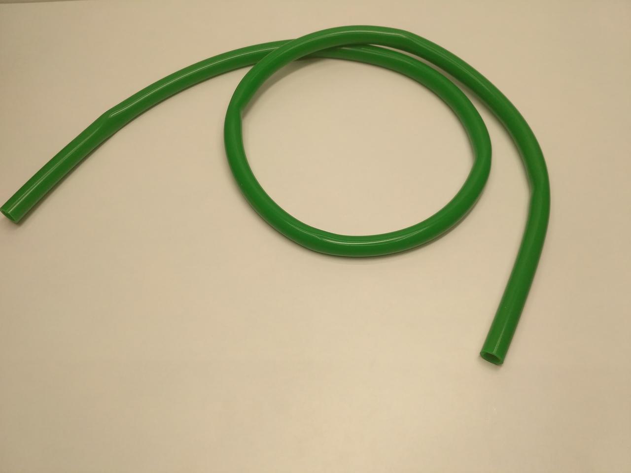 Шланг силиконовый без мундштука. Зеленый