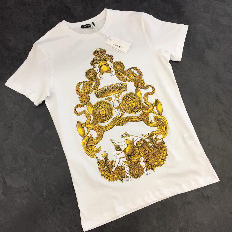 83f44f5edebee Мужская футболка белая Versace BDB160, цена 549 грн., купить в Киеве —  Prom.ua (ID#535155622)