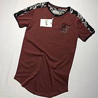 Мужская футболка бордовая SIKSILK BDB161