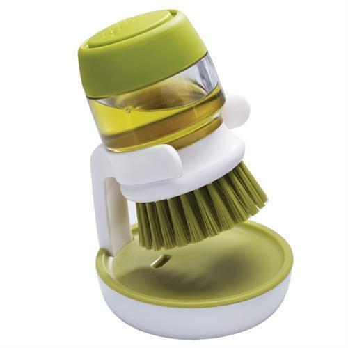 Щетка для мытья посуды с дозатором для моющего средства Soap Brush