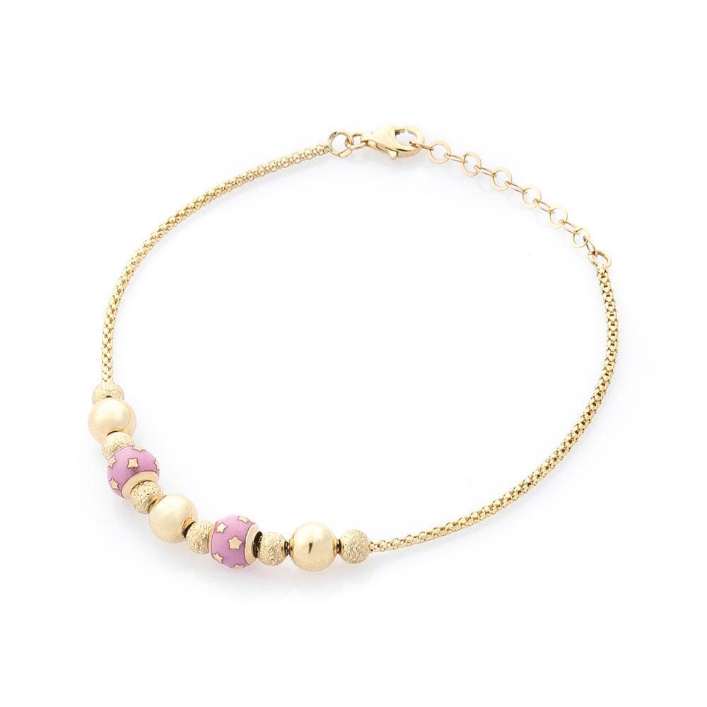 Золотой браслет с эмалью гб03304