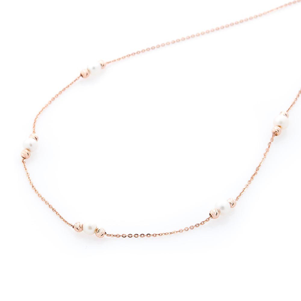 Золотий браслет з культ. пресн. перлами гб03592