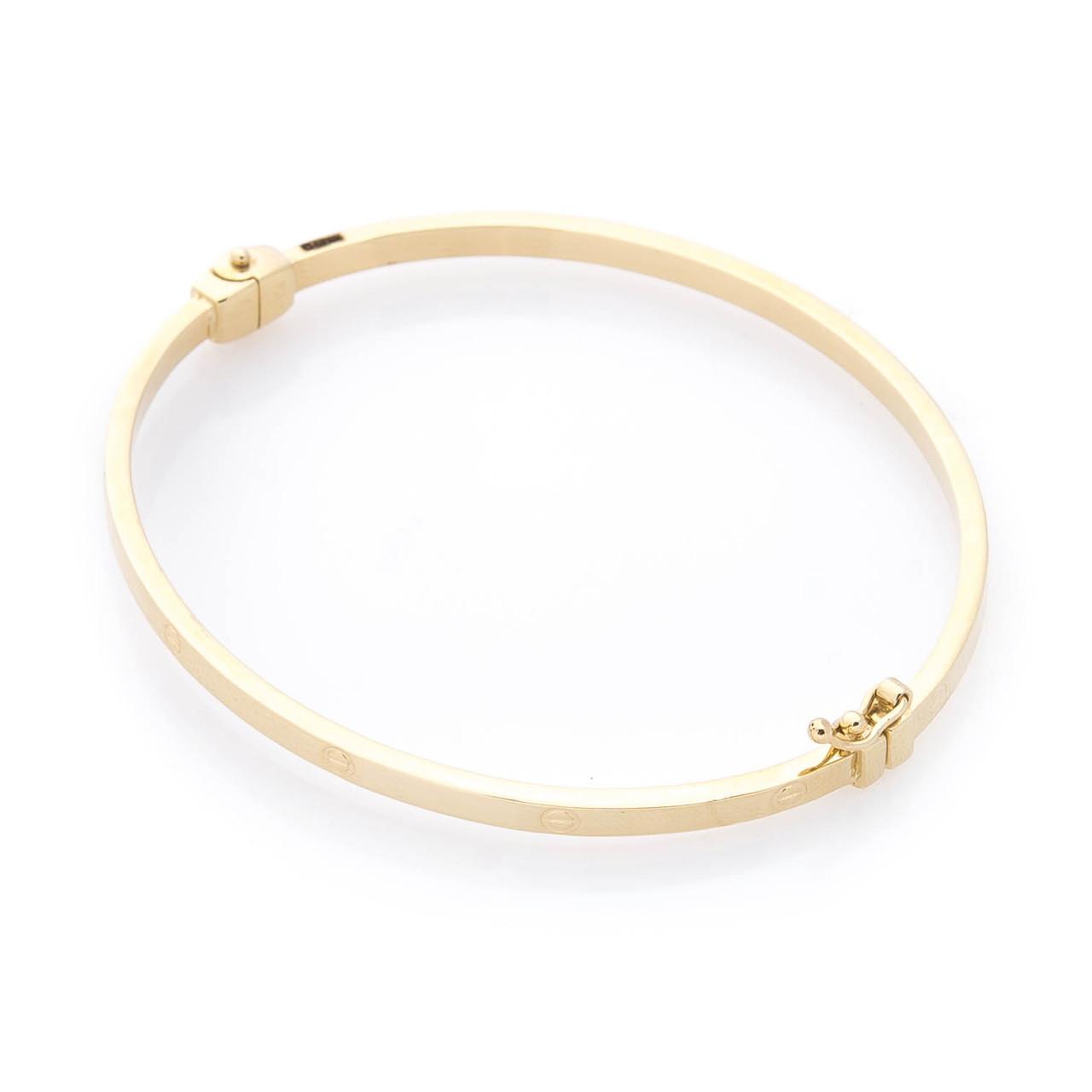 Жесткий золотой браслет гб03717