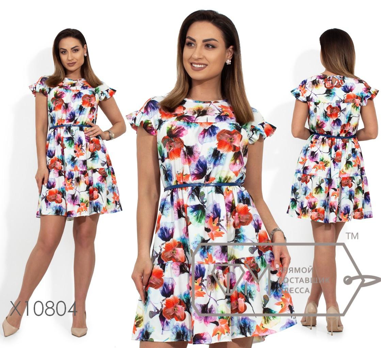 Стильное платье    (размеры 48-56)  0182-21