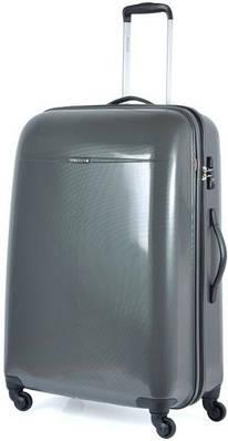 Пластиковый четырехколесный чемодан 94 л. Puccini PС-005, 6834/5 антрацит