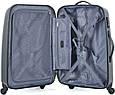 Пластиковый четырехколесный чемодан 94 л. Puccini PС-005, 6834/5 антрацит, фото 3