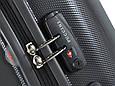Пластиковый четырехколесный чемодан 94 л. Puccini PС-005, 6834/5 антрацит, фото 8