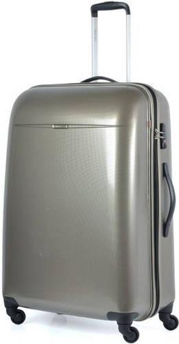 Пластиковый чемодан четырехколесный 94 л. Puccini PС-005, 6834/28 золотой